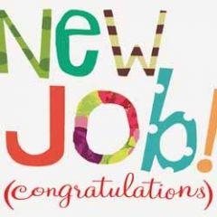 wenskaart caroline gardner - new job (congratulations)