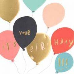 verjaardagskaart caroline gardner - super duper -  it is your birthday - ballonnen