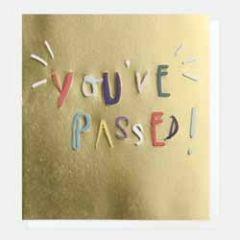 felicitatiekaart geslaagd van caroline gardner - you ve passed!