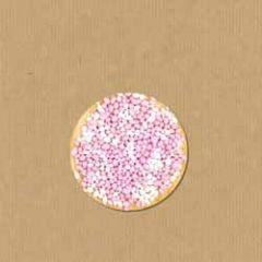 grote sluitstickers - sluitzegels - roze muisjes