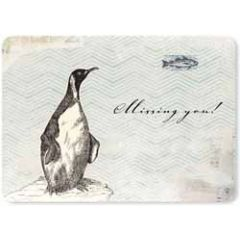ansichtkaart susi winter - missing you - pinguin