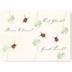 ansichtkaart susi winter - good luck! - lieveheerstbeestjes
