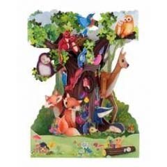 3D kaart - swing cards - dieren in het bos