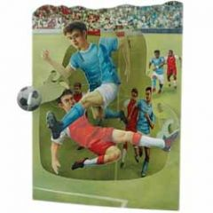 3D kaart - swing cards - voetbal