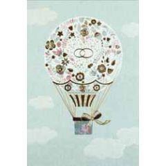 trouwkaart busquets - trouwringen op luchtballon