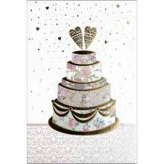 trouwkaart busquets - taart met harten