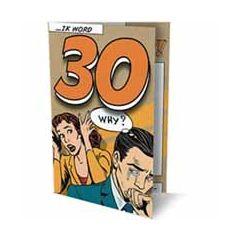 6 uitnodigingskaarten met envelop - ik word 30