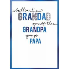 vaderdagkaart - brilliant grandad, grandfather, grandpa, gramps, papa