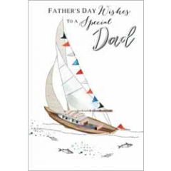 vaderdagkaart - father's day wishes to a special dad - zeilboot