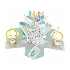3D kaart  in verwachting - pop ups - baby shower congrats