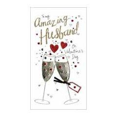 grote luxe handgemaakte valentijnskaart - to my amazing husband on valentines day - voor mijn man