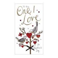 grote luxe handgemaakte valentijnskaart - to the one I love on valentines day - vogels