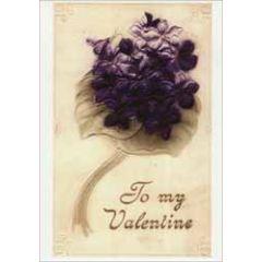 retro valentijnsansichtkaart - to my valentine