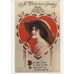 retro valentijnsansichtkaart - st. valentine's greeting