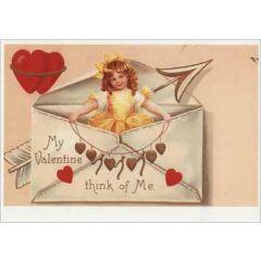 retro valentijnsansichtkaart - my valentine think of me