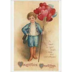 retro valentijnsansichtkaart - valentine greetings