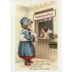 retro valentijnsansichtkaart - valentine mail - i love thee