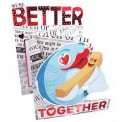 3d valentijnskaart - we're better together