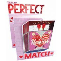 3d valentijnskaart - you're my perfect match