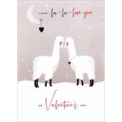 luxe grote valentijnskaart - i just la-la-love you on valentine's day