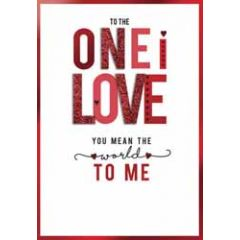 luxe grote valentijnskaart - to the one i love you mean the world to me