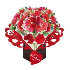 3D valentijnskaart - pop ups - happy valentine's day - rozen