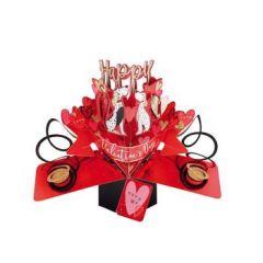 3D valentijnskaart - pop ups - happy valentine's day - honden