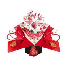 3D valentijnskaart - pop ups - with love on valentine's day - let's celebrate us