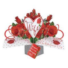 3D valentijnskaart - pop ups - my darling wife on valentine's day