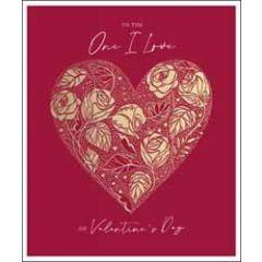 grote valentijnskaart woodmansterne - to the one i love on valentine's day