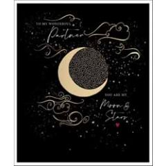 grote valentijnskaart woodmansterne - to my wonderful partner - you are my moon & stars