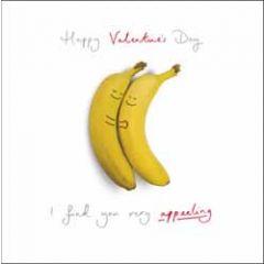 valentijnskaart woodmansterne - happy valentine's day - i find you very appeeling - bananen