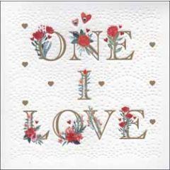 luxe valentijnskaart woodmansterne - one i love