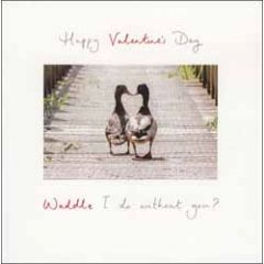 valentijnskaart woodmansterne - happy valentine's day - waddle i do without you