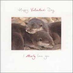 valentijnskaart woodmansterne - happy valentine's day - i ottterly love you