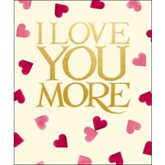 grote valentijnskaart woodmansterne - emma bridgewater - i love you more