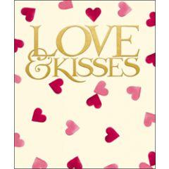 grote valentijnskaart woodmansterne - emma bridgewater - love & kisses