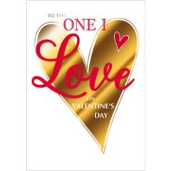 luxe grote valentijnskaart - to the one i love on valentine's day - hart
