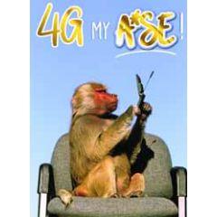 verjaardagskaart - 4g my - aap
