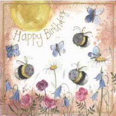 verjaardagskaart alex clark - happy birthday - bijen