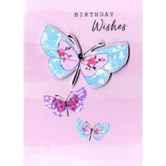 verjaardagskaart - birthday wishes - vlinders