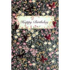 verjaardagskaart busquets - happy birthday - bloemen en vlinders