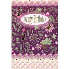 verjaardagskaart busquets - happy birthday - bloemen en elfjes