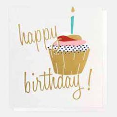 verjaardagskaart caroline gardner - happy birthday - cupcake
