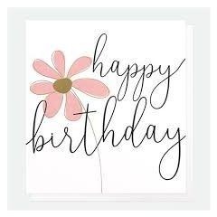 verjaardagskaart caroline gardner - happy birthday - bloem