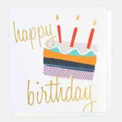 verjaardagskaart caroline gardner - happy birthday - taart