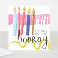 verjaardagskaart caroline gardner - it s your birthday - kaarsjes