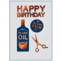 verjaardagskaart copper - happy birthday - baard olie