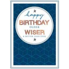 verjaardagskaart copper - happy birthday older wiser and better than ever
