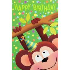verjaardagskaart busquets - happy birthday - aapje